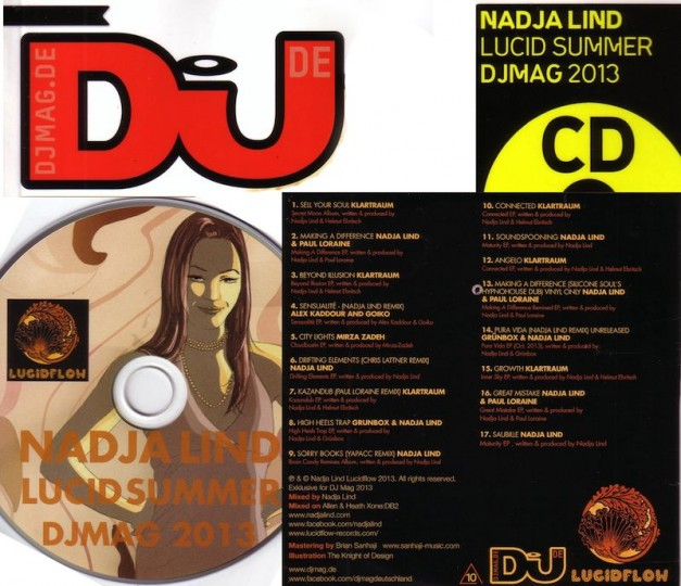 Lucid Summer Mix by Nadja Lind in co-op with DJ MAG (print) CD (28.06 in shops)
