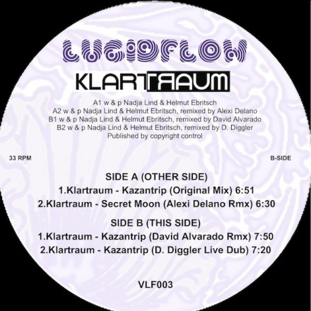 VLF003 – Klartraum – Secret Moon Wax Edition (rmx Alexi Delano, Diggler, David Alvarado)