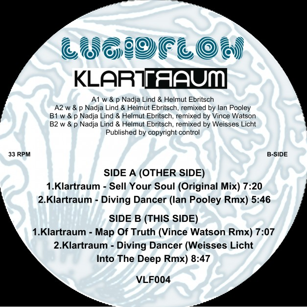 VLF004 – Klartraum – Secret Moon Wax Edition Pt.2 (rmx Ian Pooley, Vince Watson, Weisses Licht)