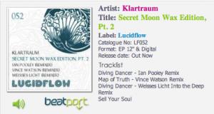 klartraum secret moon wax 2 lucidflow beatport ibiza voice