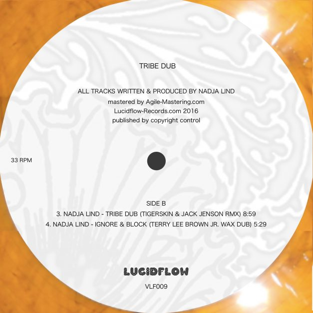 Out Now: Vinyl + digital: Nadja Lind – Tribe Dub (Brendon Moeller, Terry Lee Brown Jr., Tigerskin, Jack Jenson)